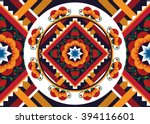 geometric ethnic oriental... | Shutterstock .eps vector #394116601