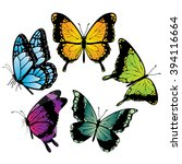 butterfly vector icons | Shutterstock .eps vector #394116664