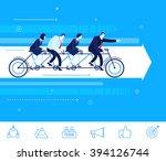 flat design vector concept... | Shutterstock .eps vector #394126744