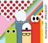 cute wallpaper colorful   Shutterstock .eps vector #394130107