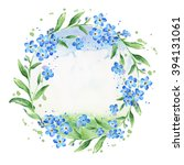 floral forget me not flower... | Shutterstock . vector #394131061