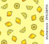 beautiful animation lemon... | Shutterstock . vector #394138954
