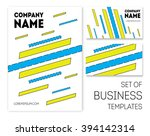 business templates set and... | Shutterstock .eps vector #394142314