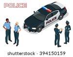 isometric  police car  prowler  ... | Shutterstock .eps vector #394150159