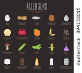 food allergen icons vector set  ... | Shutterstock .eps vector #394153015