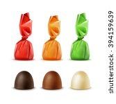 vector set of realistic dark... | Shutterstock .eps vector #394159639