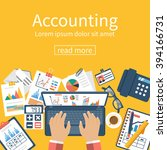 accounting concept.... | Shutterstock .eps vector #394166731