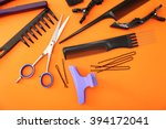 hairdresser set with various... | Shutterstock . vector #394172041