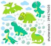 dinosaur set vector...   Shutterstock .eps vector #394174105