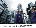 refinery workers in close ups... | Shutterstock . vector #394176775