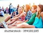 teenagers at summer music... | Shutterstock . vector #394181185