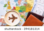 airplane made of cinnamon in... | Shutterstock . vector #394181314
