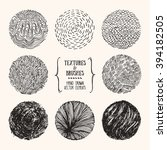 hand drawn textures and brushes.... | Shutterstock .eps vector #394182505