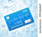 vector credit card with set of... | Shutterstock .eps vector #394186669