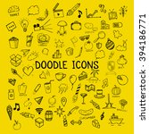 set of doodle icons  vector... | Shutterstock .eps vector #394186771