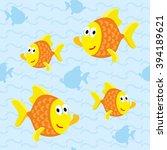 vector seamless cartoon pattern ... | Shutterstock .eps vector #394189621
