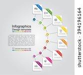 infographic report template... | Shutterstock .eps vector #394196164
