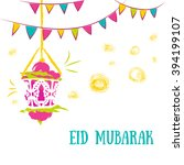 colorful ramadan kareem... | Shutterstock .eps vector #394199107