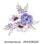 hand drawn watercolor... | Shutterstock . vector #394208365