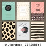 set of brochures with hand... | Shutterstock .eps vector #394208569