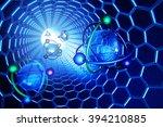 nanotechnology  molecular... | Shutterstock . vector #394210885