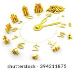 time is money  making money ... | Shutterstock . vector #394211875