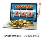 jackpot  gambling gain  luck... | Shutterstock . vector #394211911