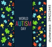 world autism day. autism... | Shutterstock .eps vector #394212445