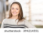 woman smiling with perfect smile | Shutterstock . vector #394214551