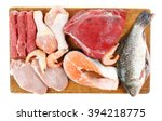 fresh raw meat products... | Shutterstock . vector #394218775