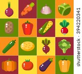 vegetables icons set in flat... | Shutterstock .eps vector #394220341