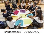 study studying learn learning... | Shutterstock . vector #394220977