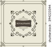 vector frame template. vintage... | Shutterstock .eps vector #394223344