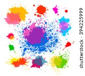 set of objects from colored... | Shutterstock .eps vector #394225999