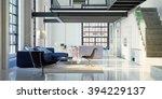 3d render loft interior | Shutterstock . vector #394229137