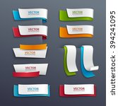 vector banners set.   Shutterstock .eps vector #394241095