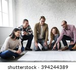 creative group working... | Shutterstock . vector #394244389