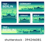 set of germany landscape... | Shutterstock .eps vector #394246081