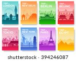 travel information cards.... | Shutterstock .eps vector #394246087