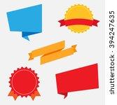 modern flat design badges... | Shutterstock .eps vector #394247635