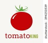 red tomato vegetable logo icon... | Shutterstock .eps vector #394253539