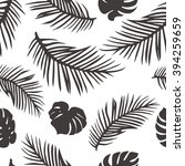 palm leaves isolated on white.... | Shutterstock .eps vector #394259659