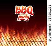 barbecue party poster template. ... | Shutterstock .eps vector #394261231