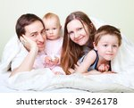 happy young family with two... | Shutterstock . vector #39426178