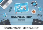 business travel background.... | Shutterstock .eps vector #394261819