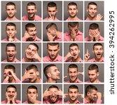 set of handsome emotional man... | Shutterstock . vector #394262995
