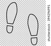 imprint soles shoes line icon...