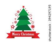 christmas tree. vector... | Shutterstock .eps vector #394297195