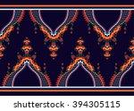 geometric ethnic oriental... | Shutterstock .eps vector #394305115