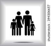 family sign icon  vector... | Shutterstock .eps vector #394306657